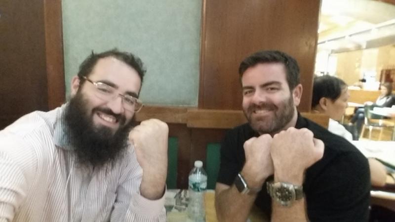 Joe Apfelbaum and Brandon Webb of the Entrepreneurs Organization of New York.