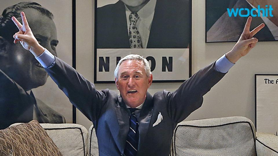 Political consultant Roger Stone is no longer working for Team Trump. (Photo: Wochit)