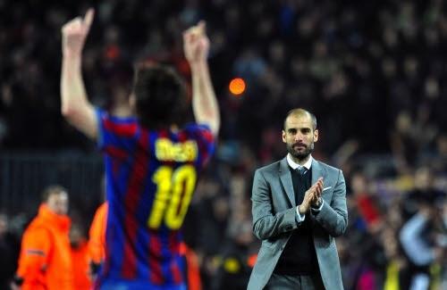Thầy cũ của Messi, Pep Guardiola có khả năng sẽ về dẫn dắt Man City từ mùa tới. Ảnh: Reuters