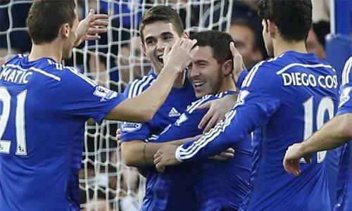Dàn sao được trả lương cao ngút là một lý do giúp Chelsea thăng hoa, vô địch Ngoại hạng Anh mùa trước. Ảnh: AFP.