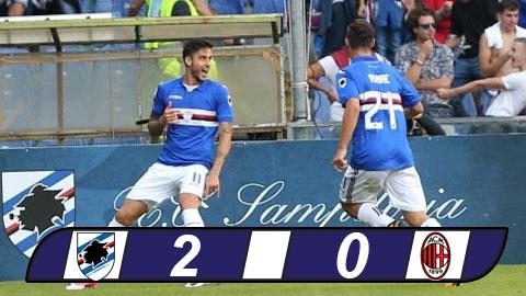 Ac Milan thất bại thảm hại trước Sampdoria