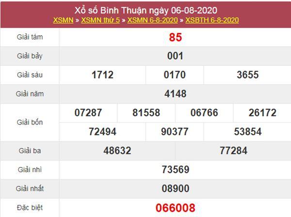 Soi cầu XSBTH 13/8/2020 chốt KQXS Bình Thuận thứ 5