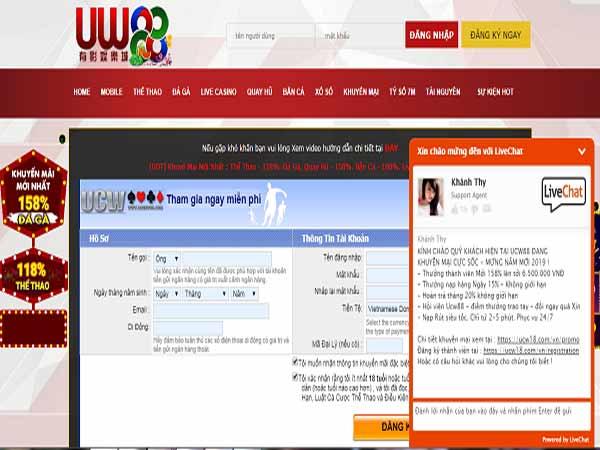 Nhà cái UCW18 đăng ký tài khoản nhanh