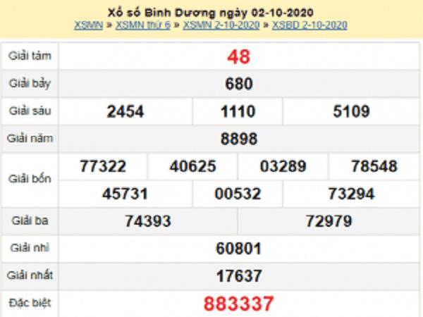 Tổng hợp soi cầu KQXSBD ngày 09/10/2020- xổ số bình dương